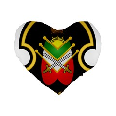 Shield Of The Imperial Iranian Ground Force Standard 16  Premium Heart Shape Cushions by abbeyz71