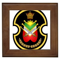 Shield Of The Imperial Iranian Ground Force Framed Tiles by abbeyz71