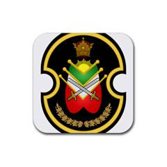 Shield Of The Imperial Iranian Ground Force Rubber Coaster (square)  by abbeyz71