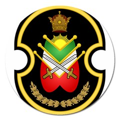 Shield Of The Imperial Iranian Ground Force Magnet 5  (round) by abbeyz71