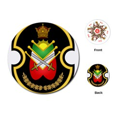 Shield Of The Imperial Iranian Ground Force Playing Cards (round)  by abbeyz71