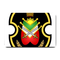 Shield Of The Imperial Iranian Ground Force Small Doormat  by abbeyz71