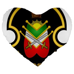 Shield Of The Imperial Iranian Ground Force Large 19  Premium Heart Shape Cushions by abbeyz71