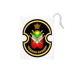 Shield Of The Imperial Iranian Ground Force Drawstring Pouches (small)  by abbeyz71