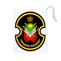 Shield Of The Imperial Iranian Ground Force Drawstring Pouches (large)  by abbeyz71