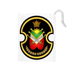Shield Of The Imperial Iranian Ground Force Drawstring Pouches (medium)  by abbeyz71