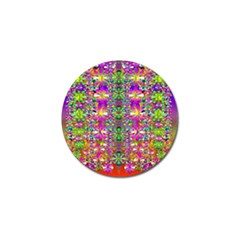 Flower Wall With Wonderful Colors And Bloom Golf Ball Marker (10 Pack) by pepitasart