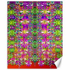 Flower Wall With Wonderful Colors And Bloom Canvas 16  X 20   by pepitasart
