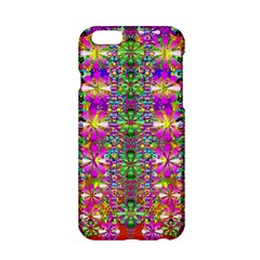Flower Wall With Wonderful Colors And Bloom Apple Iphone 6/6s Hardshell Case by pepitasart
