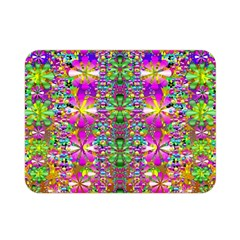Flower Wall With Wonderful Colors And Bloom Double Sided Flano Blanket (mini)  by pepitasart