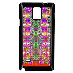 Flower Wall With Wonderful Colors And Bloom Samsung Galaxy Note 4 Case (black) by pepitasart