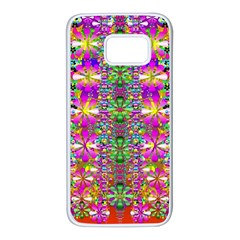 Flower Wall With Wonderful Colors And Bloom Samsung Galaxy S7 White Seamless Case by pepitasart
