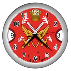 Seal Of The Imperial Iranian Army Aviation  Wall Clocks (silver)  by abbeyz71