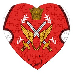 Seal Of The Imperial Iranian Army Aviation  Jigsaw Puzzle (heart) by abbeyz71