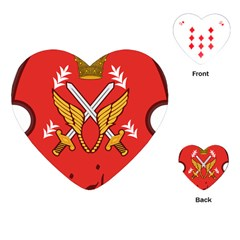 Seal Of The Imperial Iranian Army Aviation  Playing Cards (heart)  by abbeyz71