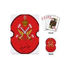 Seal Of The Imperial Iranian Army Aviation  Playing Cards (mini)  by abbeyz71