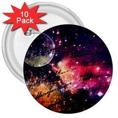 Letter From Outer Space 3  Buttons (10 Pack)