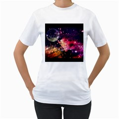 Letter From Outer Space Women s T Shirt (white) (two Sided) by augustinet