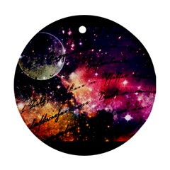 Letter From Outer Space Round Ornament (two Sides) by augustinet