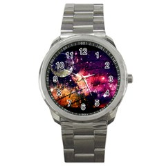 Letter From Outer Space Sport Metal Watch by augustinet