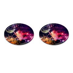 Letter From Outer Space Cufflinks (oval) by augustinet
