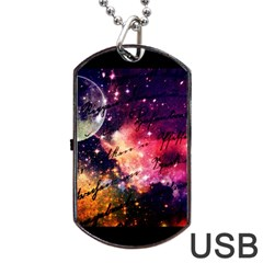 Letter From Outer Space Dog Tag Usb Flash (two Sides) by augustinet