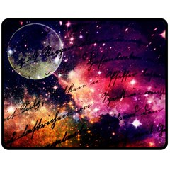 Letter From Outer Space Double Sided Fleece Blanket (medium)  by augustinet