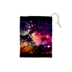 Letter From Outer Space Drawstring Pouches (small)  by augustinet