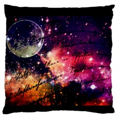 Letter From Outer Space Large Flano Cushion Case (one Side) by augustinet