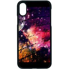 Letter From Outer Space Apple Iphone X Seamless Case (black) by augustinet