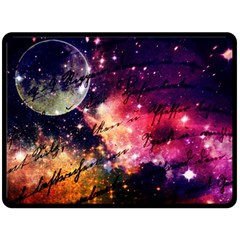 Letter From Outer Space Fleece Blanket (large)  by augustinet