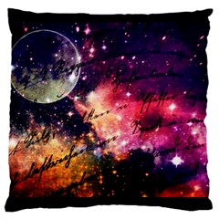 Letter From Outer Space Large Cushion Case (two Sides) by augustinet