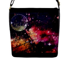 Letter From Outer Space Flap Messenger Bag (l)  by augustinet