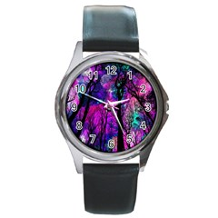 Magic Forest Round Metal Watch by augustinet