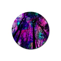 Magic Forest Rubber Round Coaster (4 Pack)  by augustinet