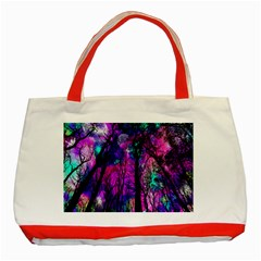 Magic Forest Classic Tote Bag (red) by augustinet