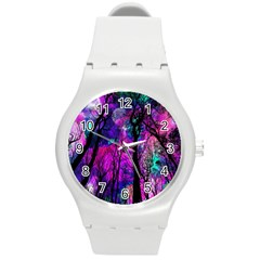 Magic Forest Round Plastic Sport Watch (m) by augustinet