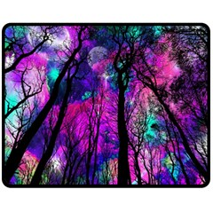 Magic Forest Double Sided Fleece Blanket (medium)  by augustinet