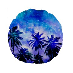 Summer Night Dream Standard 15  Premium Flano Round Cushions by augustinet