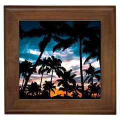 Palm Trees Summer Dream Framed Tiles by augustinet