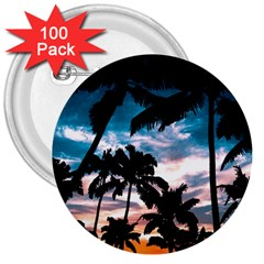 Palm Trees Summer Dream 3  Buttons (100 Pack)  by augustinet