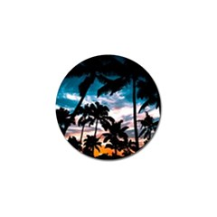 Palm Trees Summer Dream Golf Ball Marker (10 Pack) by augustinet