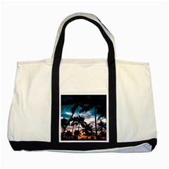 Palm Trees Summer Dream Two Tone Tote Bag