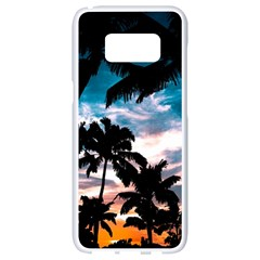 Palm Trees Summer Dream Samsung Galaxy S8 White Seamless Case by augustinet