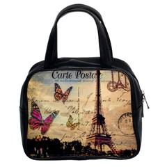 Vintage Paris Carte Postale Classic Handbags (2 Sides) by augustinet
