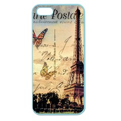 Vintage Paris Carte Postale Apple Seamless Iphone 5 Case (color) by augustinet