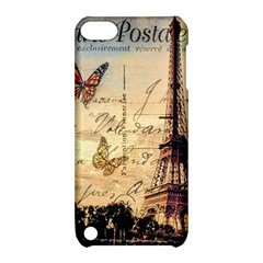 Vintage Paris Carte Postale Apple Ipod Touch 5 Hardshell Case With Stand by augustinet