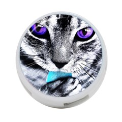 Purple Eyes Cat 4 Port Usb Hub (one Side) by augustinet