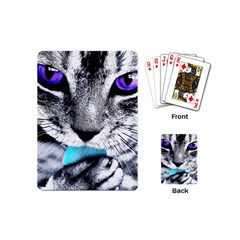 Purple Eyes Cat Playing Cards (mini)  by augustinet