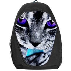Purple Eyes Cat Backpack Bag by augustinet